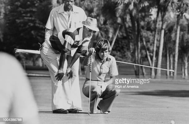 MIAMI FL Chi Chi Rodriguez with JoAnn Washam at the Pepsi Mixed Team Championship at Doral Country Club in Miami FL