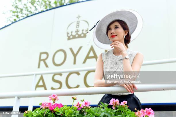 Chi Ling Lin Longines Ambassador of Elegance at Royal Ascot on June 19 2019 in Ascot England