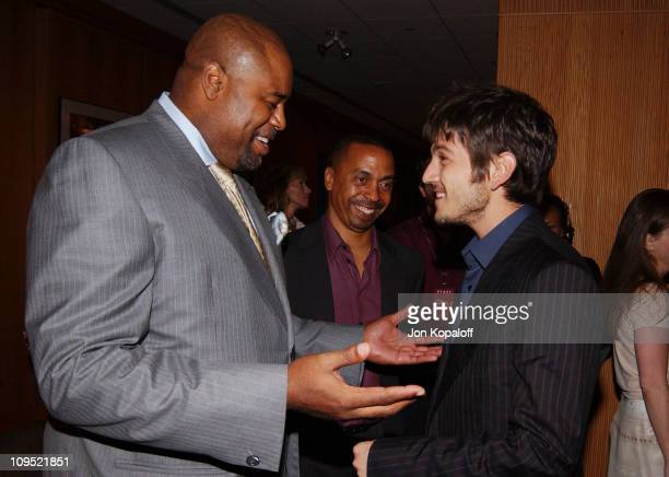 Chi McBride and Diego Luna during The Terminal World Premiere After Party at Academy of Motion Picture Arts and Science in Beverly Hills California...