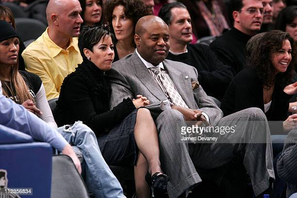 Chi McBride and guest during Celebrities Attend Milwaukee Bucks vs New York Knicks Game December 9 2006 at Madison Square Garden in New York City New...