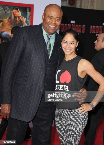 Chi McBride and Julissa Marquez arrives at the Iron Man 3 Los Angeles Premiere at the El Capitan Theatre on April 24 2013 in Hollywood California