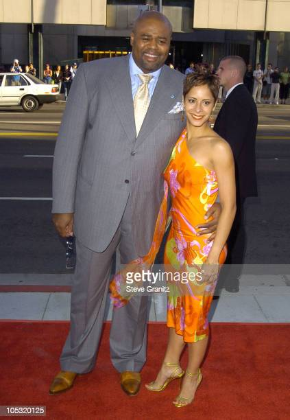 Chi McBride and Julissa Marquez during The Terminal World Premiere Arrivals at The Academy in Beverly Hills California United States