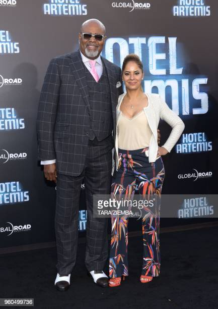 Chi McBride and Julissa McBride attend the Los Angeles premiere of 'Hotel Artemis' on May 19, 2018 in Westwood Village, California.
