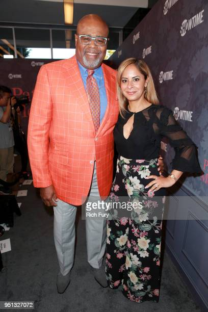 Chi McBride and Julissa Mcbride attend the premiere of Showtime's 'Patrick Melrose' at Linwood Dunn Theater on April 25 2018 in Los Angeles California