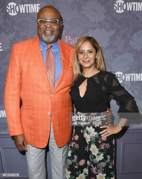 Chi McBride and Julissa Mcbride attend the premiere of Showtime's Patrick Melrose at Linwood Dunn Theater on April 25 2018 in Los Angeles California