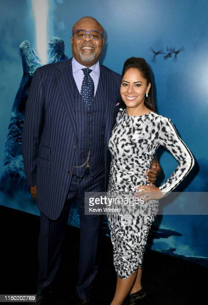 Chi McBride and Julissa Mcbride attend the premiere of Warner Bros Pictures and Legendary Pictures' Godzilla King Of The Monsters at TCL Chinese...