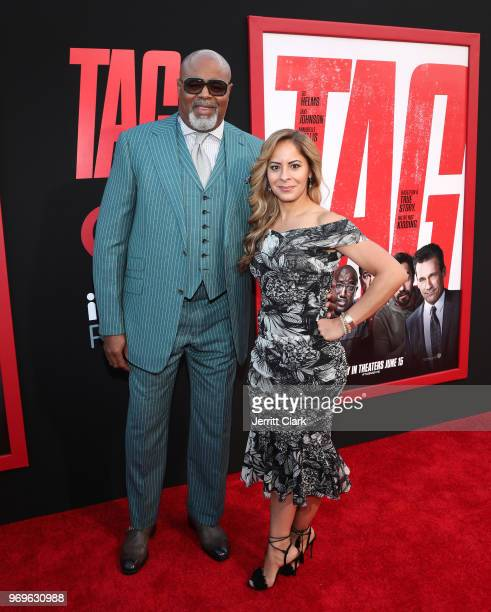 Chi McBride and Julissa McBride attend the Premiere Of Warner Bros Pictures And New Line Cinema's Tag at Regency Village Theatre on June 7 2018 in...