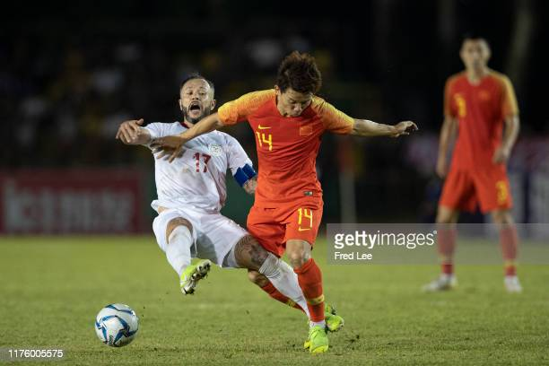 Chi Zhongguo of China National Team in action during 2022 FIFA Qatar World Cup & 2023 AFC China Asian Cup Joint Qualification Round 2: Philippines v...