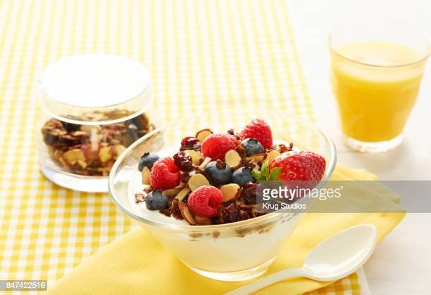 Chia and Granola Yogurt Parfait
