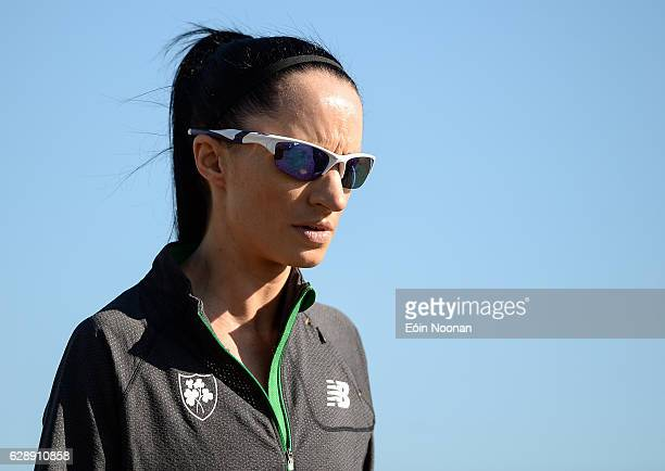 Chia Italy 10 December 2016 Laura Crowe walks the coarse prior to the 2016 Spar European Cross Country Championships in Chia Italy