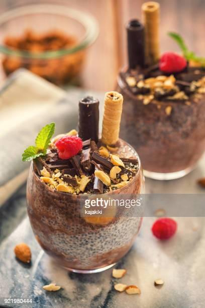 Chia Seed Pudding With Chocolate and Bananas