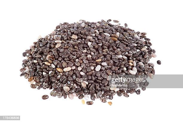 chia seeds (salvia hispanica) isolated on white