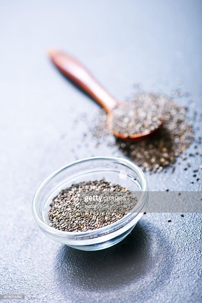 chia  seeds : Stockfoto