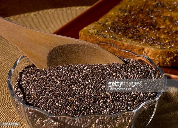 Chia seeds plucked from a Central American plant called Salvia hispanica contain omega3 fatty acids more dietary fiber than flaxseed