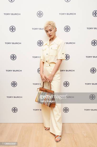 Chiaki Hatakeyama attends the Tory Burch Ginza Boutique Opening on April 02 2019 in Tokyo Japan
