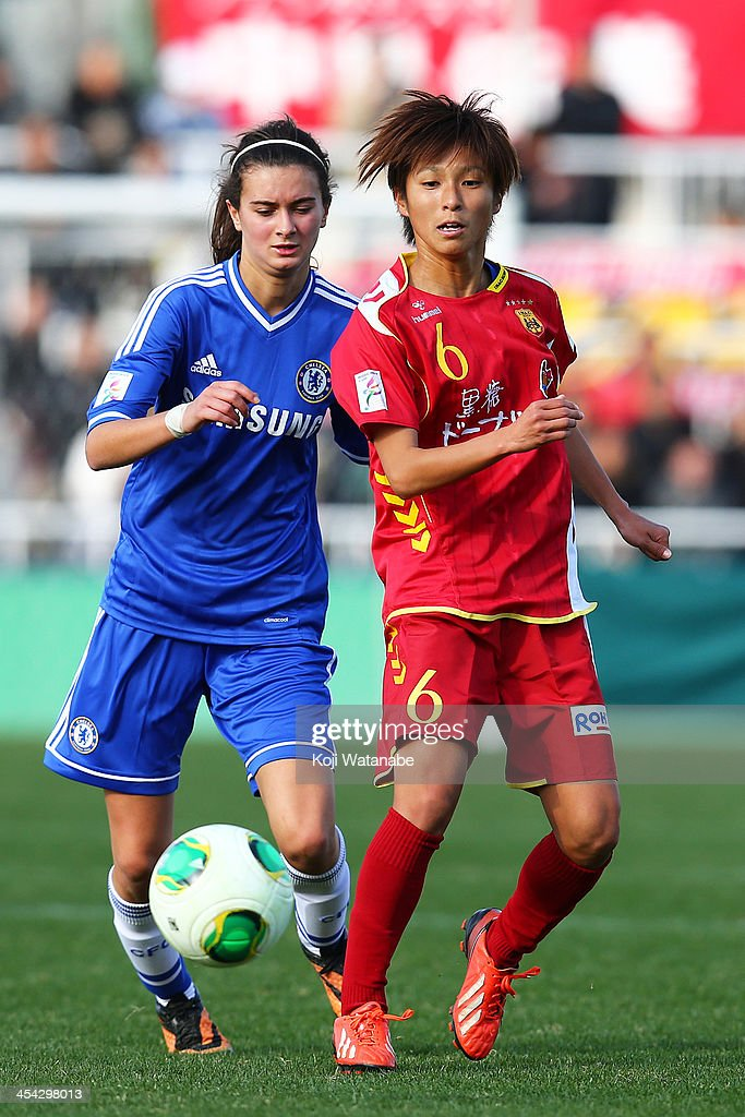 Chiaki Minamiyama of INAC Kobe Leonessa in action during the International Women's Club Championship final match between Chelsea Ladies and INAC Kobe Leonessa at Ajinomoto Field Nishigaoka on December 8, 2013 in Tokyo, Japan.
