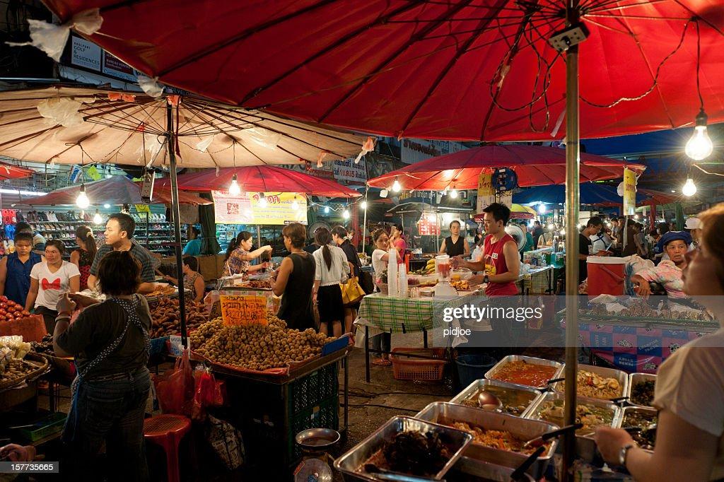 Chiang Mai night bazaar, Thailand : Stock Photo