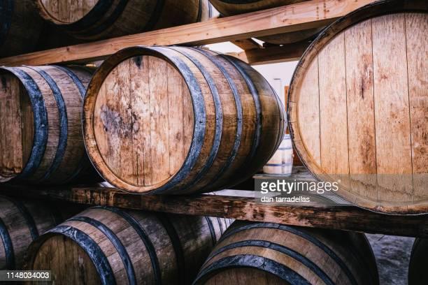 chianti barrels close up, tuscany, italy. - サンジミニャーノ ストックフォトと画像