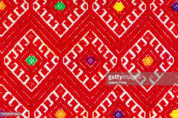 a chiapas textile - embroidery stock pictures, royalty-free photos & images