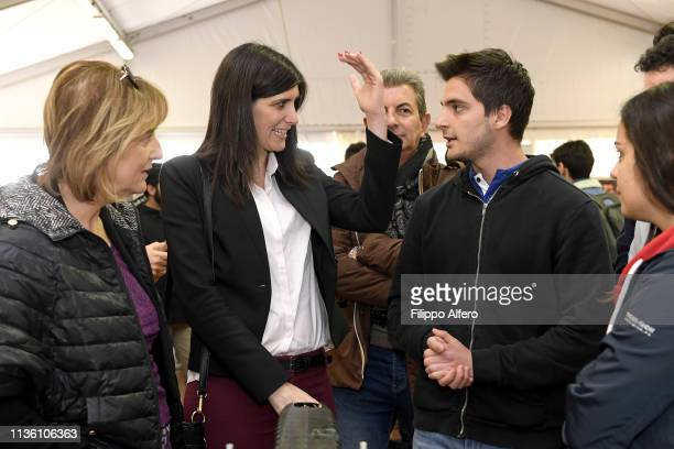 Chiara Appendino and Antonietta Di Martino attend Politecnico di Torino Orientati al Futuro Salone dell'Orientamento on April 8 2019 in Turin Italy