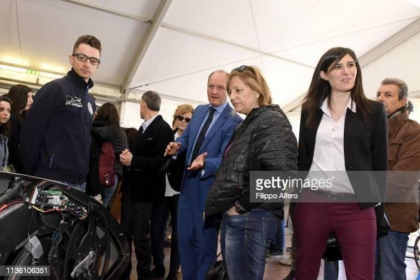 Chiara Appendino Guido Saracco and Antonietta Di Martino attend Politecnico di Torino Orientati al Futuro Salone dell'Orientamento on April 8 2019 in...