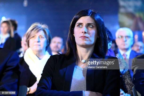 Chiara Appendino mayor of Turin during the presentation of results of Piano Impresa 40 Innovazione e competenze