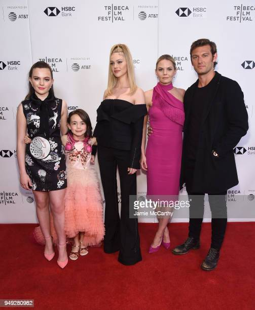 Chiara Aurelia Hala Finley Nicola Peltz Jennifer Morrison and Alex Pettyfer attend the screening of 'Back Roads' during the Tribeca Film Festival at...