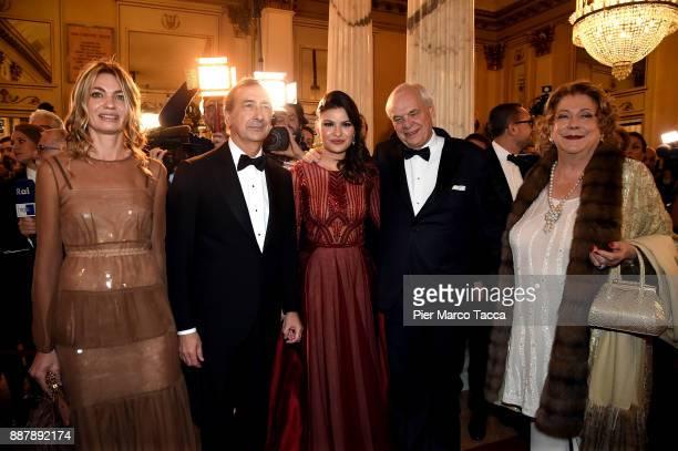 Chiara Bazoli Giuseppe SalaDaniela Weisser Alexander Pereira and Diana Bracco attend the Prima Alla Scala at Teatro Alla Scala on December 7 2017 in...