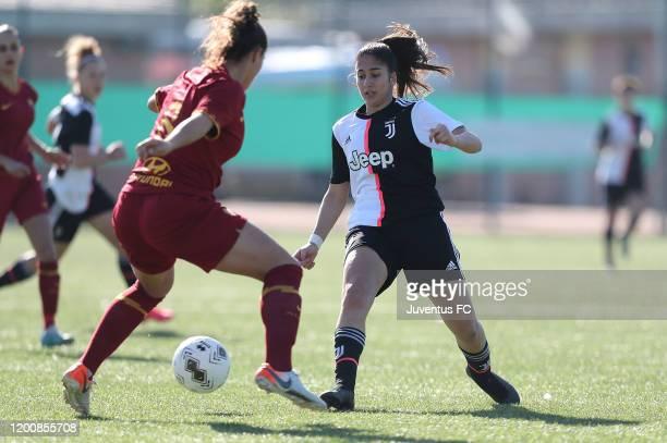 Chiara Beccari of Juventus Women U19 in action during the Viareggio Women's Cup match between Juventus U19 and FC Internazionale U19 on February 15...