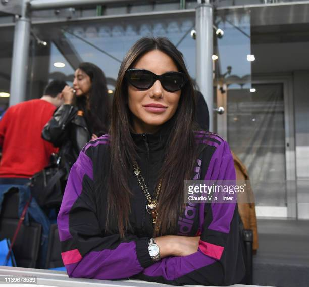 Chiara Biasi attends during the Serie A match between FC Internazionale and Juventus at Stadio Giuseppe Meazza on April 27 2019 in Milan Italy