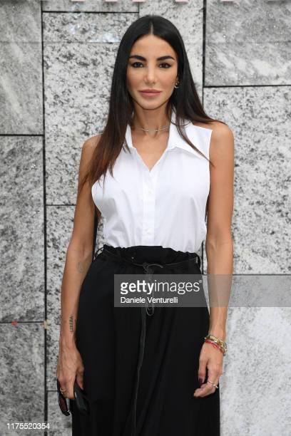 Chiara Biasi attends the Alberta Ferretti fashion show during the Milan Fashion Week Spring/Summer 2020 on September 18 2019 in Milan Italy