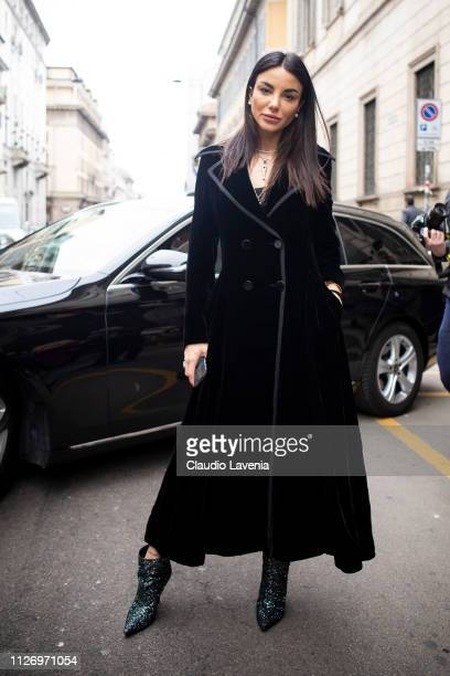 Chiara Biasi attends the Ermanno Scervino show at Milan Fashion Week Autumn/Winter 2019/20 on February 23 2019 in Milan Italy