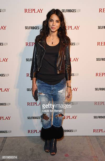Chiara Biasi attends the Replay launches Hyper Collection with starstudded event The Flexibles at Old Selfridges Hotel on May 17 2016 in London...