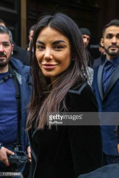 Chiara Biasi is seen on Day 4 Milan Fashion Week Autumn/Winter 2019/20 on February 23 2019 in Milan Italy