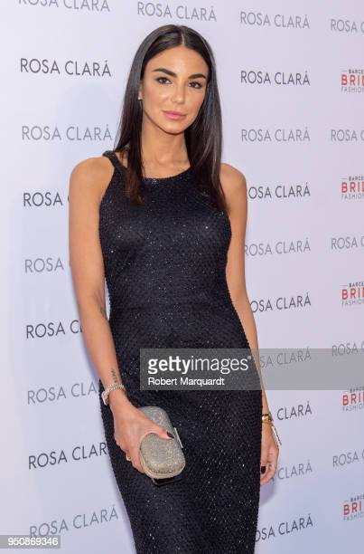 Chiara Biasi poses for a photocall at the Rosa Clara fashion show during Barcelona Bridal Week 2018 held at the Recinte Modernista de Sant Pau on...