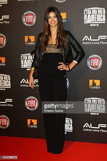 Chiara Carlini attends the 'C'era Una Volta In America Director's Cut' premiere at Space Moderno on October 16 2012 in Rome Italy