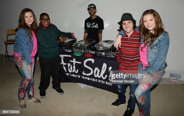 Chiara D'ambrosio Akinyele Caldwell Hunter Payton and Bianca D'ambrosio attend The Artists Project Boo2Bullying Toy Drive to Benefit the Los Angeles...