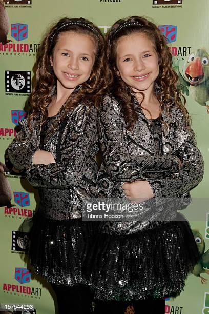 Chiara D'Ambrosio and Bianca D'Ambrosio attend the Delhi Safari Los Angeles premiere at Pacific Theatre at The Grove on December 3 2012 in Los...