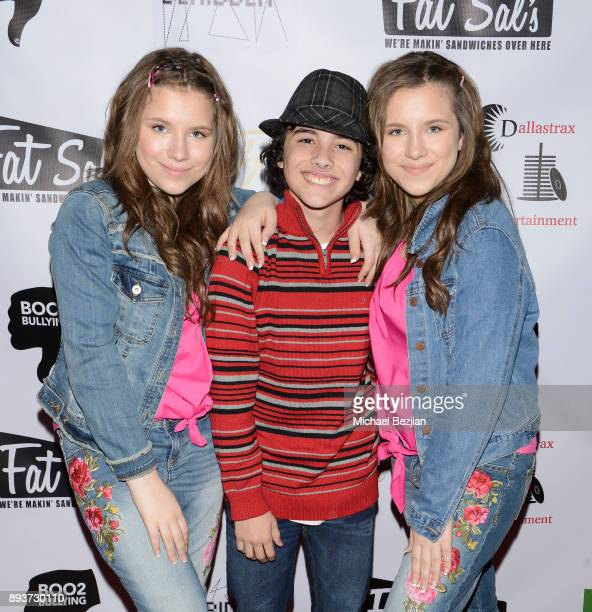 Chiara D'ambrosio Hunter Payton and Bianca D'ambrosio attend The Artists Project Boo2Bullying Toy Drive to Benefit the Los Angeles Fire Department on...