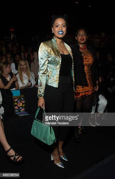 Chiara de Blasio attends Anna Sui during Mercedes-Benz Fashion Week Spring 2015 at The Theatre at Lincoln Center on September 10, 2014 in New York...