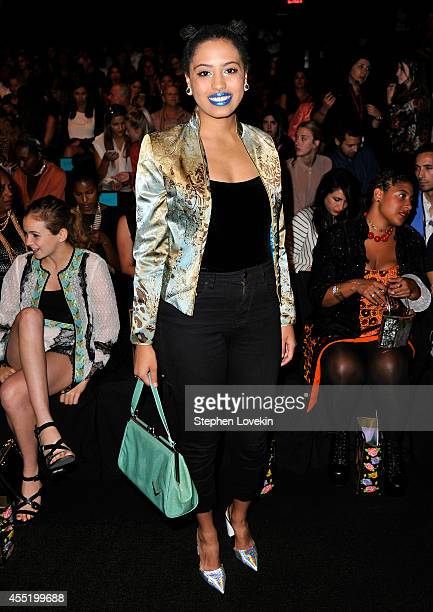 Chiara de Blasio attends the Anna Sui fashion show during MercedesBenz Fashion Week Spring 2015 at The Theatre at Lincoln Center on September 10 2014...