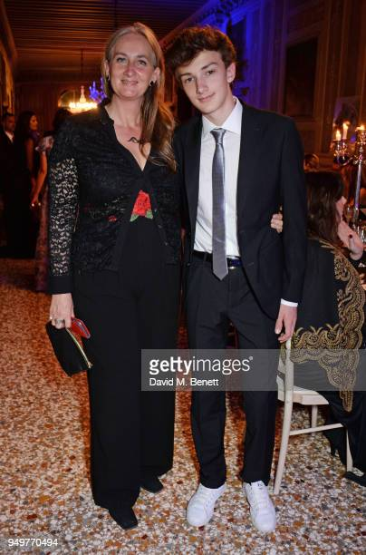 Chiara Dona dalle Rose and Francesco Dona dalle Rose attend a party to celebrate Nefer Suvio's birthday hosted by The Count and Countess Francesco...