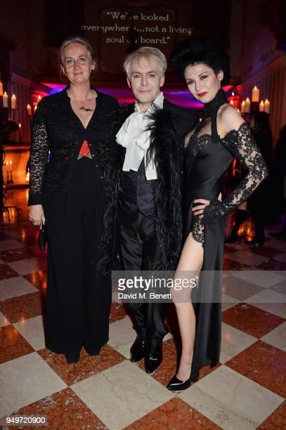 Chiara Dona dalle Rose Nick Rhodes and Nefer Suvio attend a party to celebrate Nefer Suvio's birthday hosted by The Count and Countess Francesco...