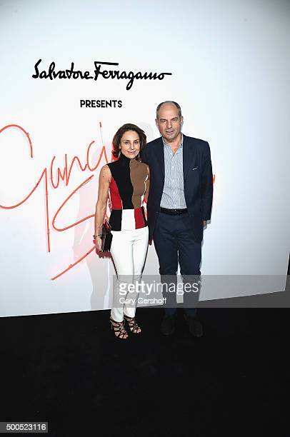 Chiara Ferragamo and Chairman of Salvatore Ferragamo, Massimo Ferragamo attend Ferragamo Presents: Gancio Studios, Celebrating 100 Years In Hollywood...