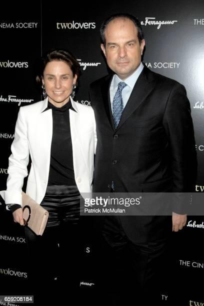 """Chiara Ferragamo and Massimo Ferragamo attend THE CINEMA SOCIETY and SALVATORE FERRAGAMO host a screening of """"TWO LOVERS"""" at Landmark Sunshine..."""