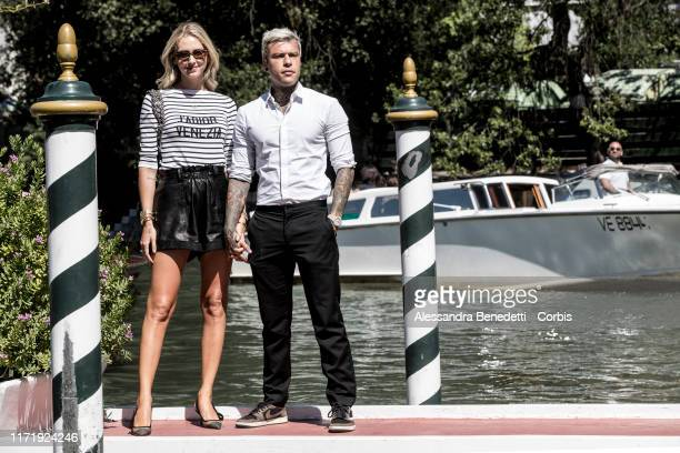 Chiara Ferragni and Fedez are seen arriving at the 76th Venice Film Festival on September 03 2019 in Venice Italy