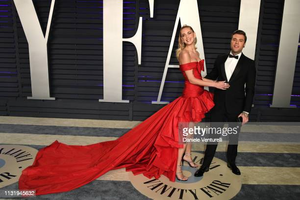 Chiara Ferragni and Fedez attend 2019 Vanity Fair Oscar Party Hosted By Radhika Jones at Wallis Annenberg Center for the Performing Arts on February...