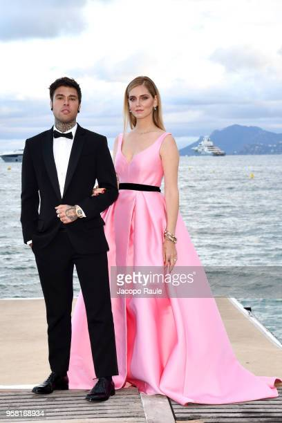 Chiara Ferragni and Fedez attend photocall during the 71st annual Cannes Film Festival at on May 13 2018 in Cannes France