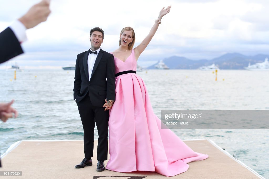Chiara Ferragni and Fedez Photocall - The 71st Annual Cannes Film Festival : News Photo