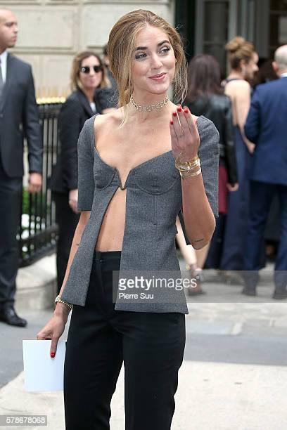8e3f68cd1516 Chiara Ferragni arrives at the Christian Dior Haute Couture Fall Winter  20162017 show as part